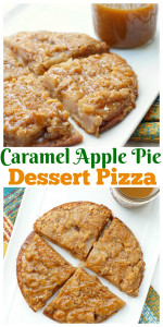Caramel Apple Pie Dessert Pizza