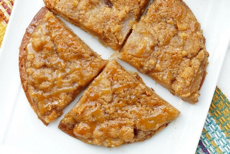 Caramel Apple Pie Dessert Pizza
