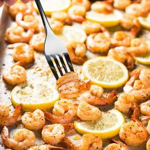 Sheet Pan Lemon Pepper Shrimp