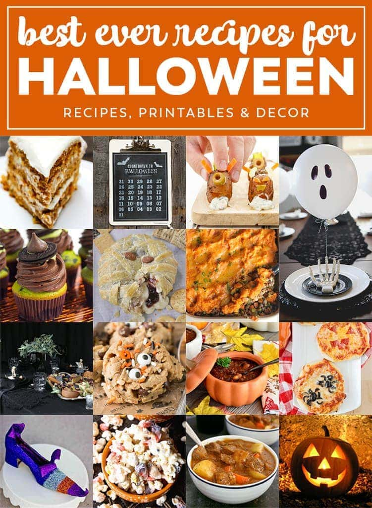 Best Ever Recipes for Halloween Night - from spooky to creepy to not so scary