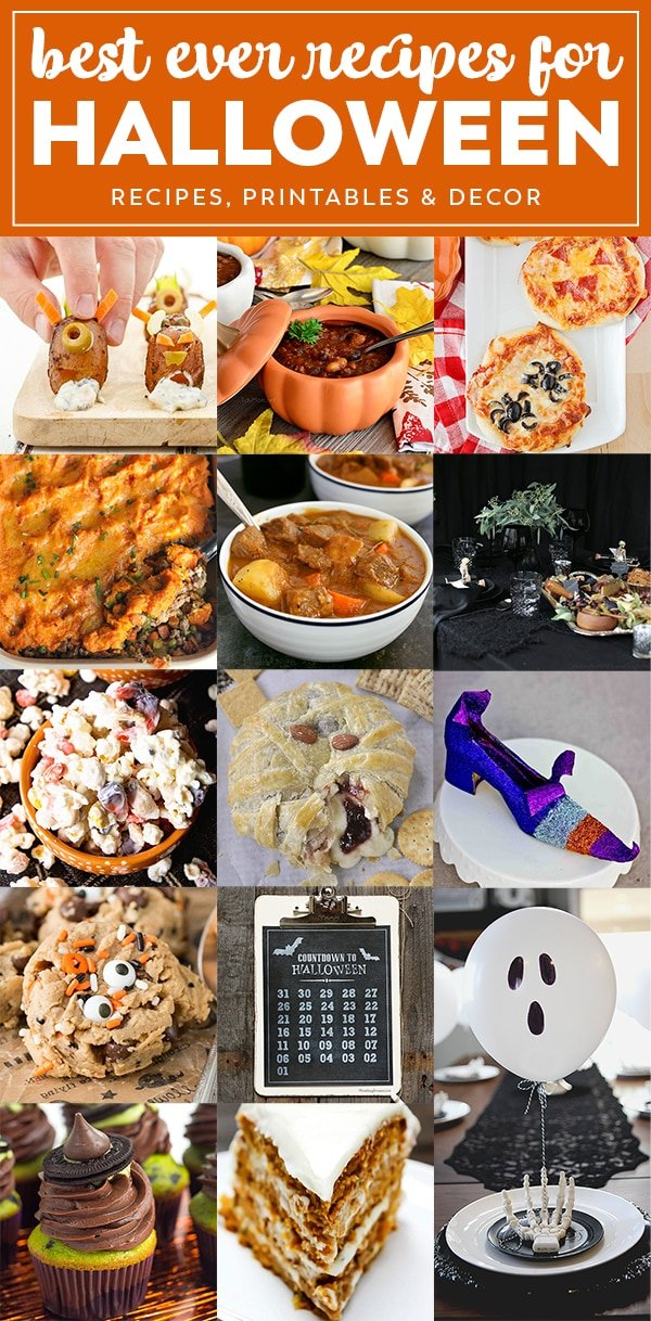 14 great recipes for Halloween - appetizers, dinners and desserts - from spooky and creepy to not so scary!