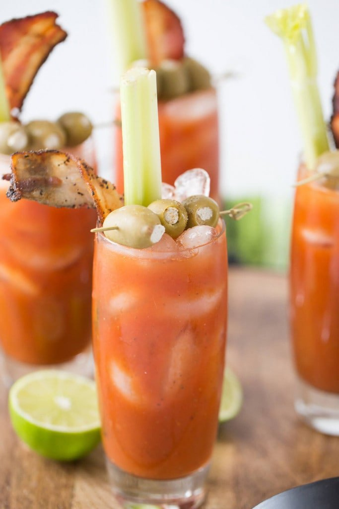A close up of a bloody mary