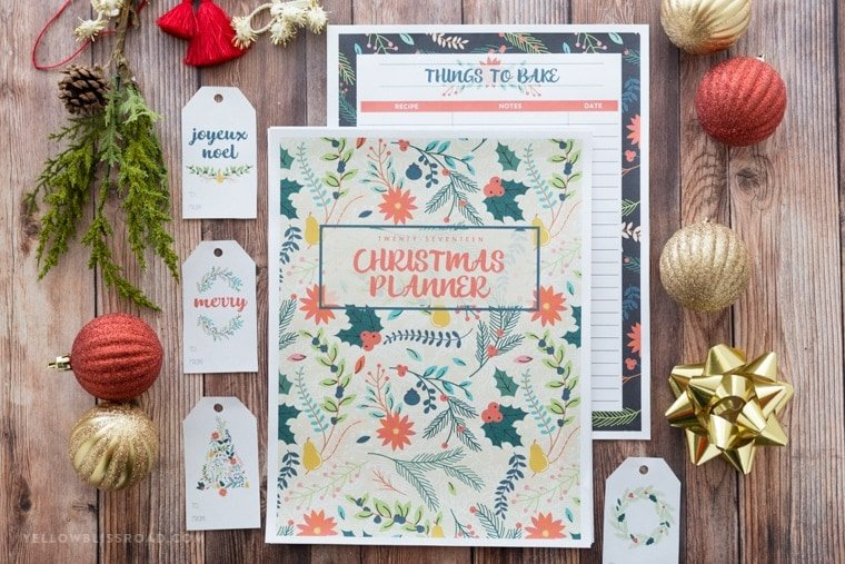 2017 Christmas Planner to keep the holidays organized