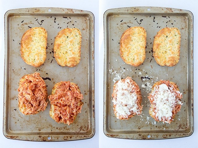 How to make a Texas Toast Chicken Parmesan Sandwich