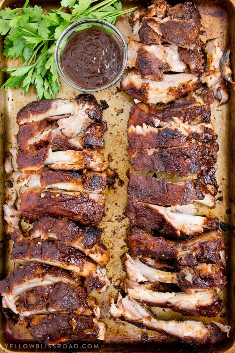 A pan with ribs