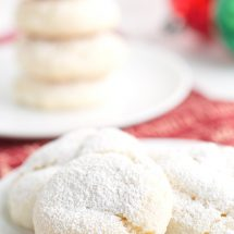 Easy Snowball Cookies Recipe (no nuts)