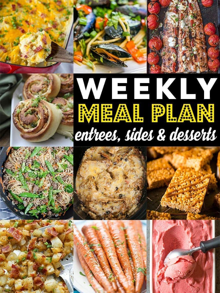 Weekly Meal Plan Week 87 – 10 great bloggers bringing you a full week of recipes including dinner, sides dishes, and desserts!