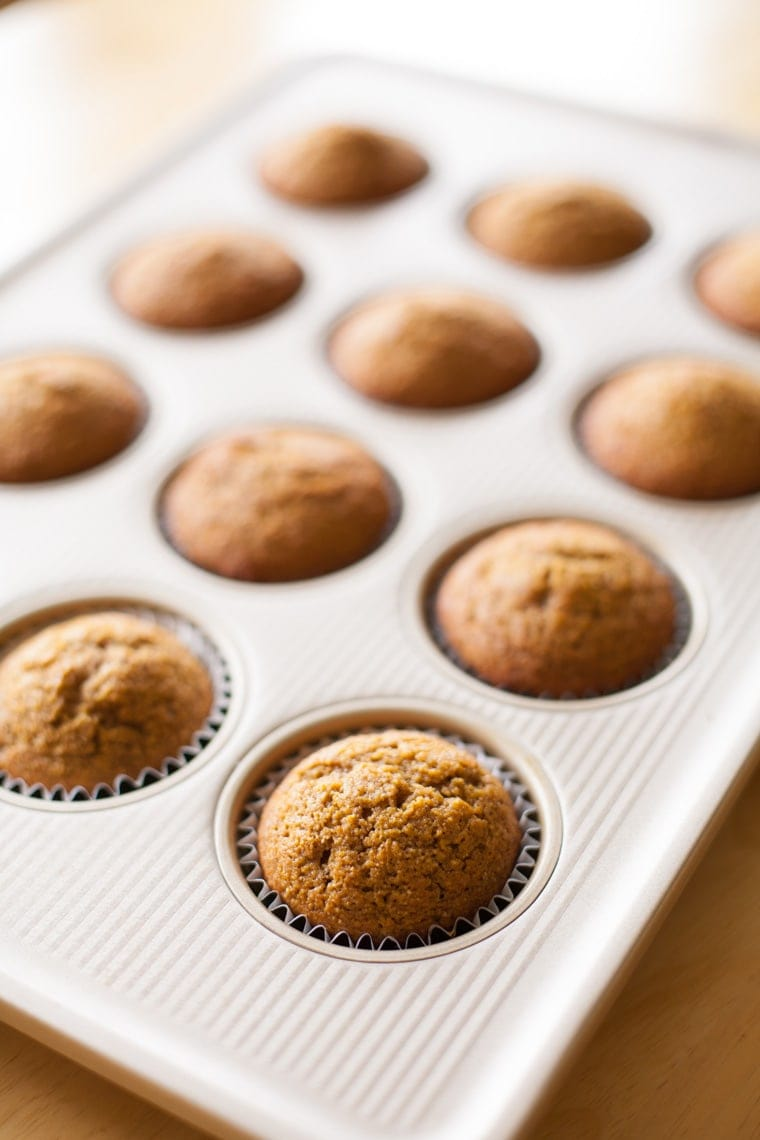 Make these wholesome, hearty Whole Wheat Pumpkin Muffins. The perfect breakfast or snack.