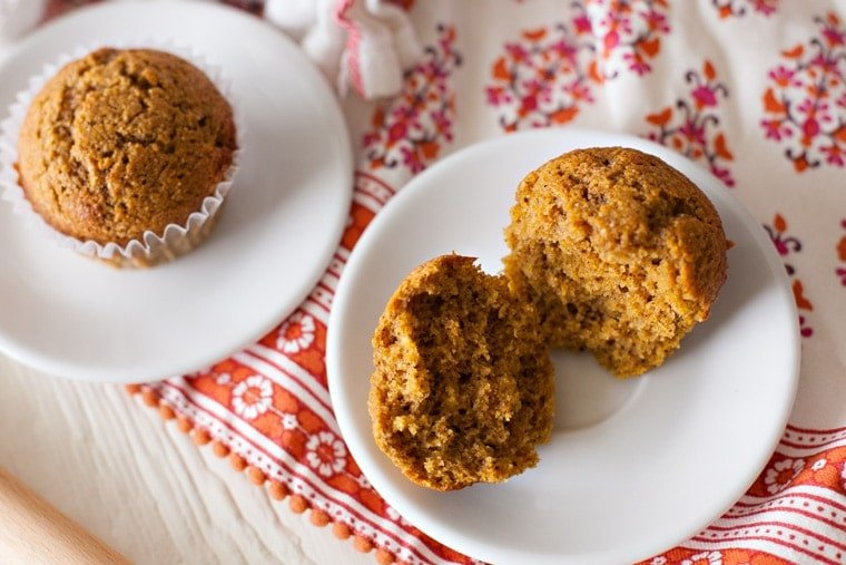 Whole Wheat Pumpkin Muffins made with all your favorite flavors for fall!