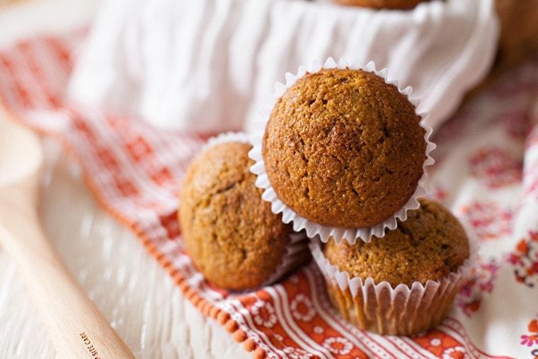 Whole Wheat Pumpkin Muffins.