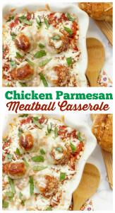 Social media image of Chicken Parmesan Meatball Casserole