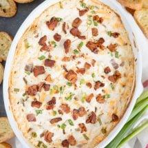 Cheesy Hot Bacon Dip