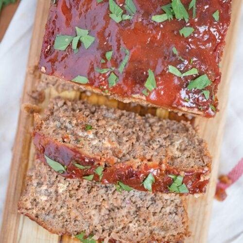 Social media image of classic meatloaf