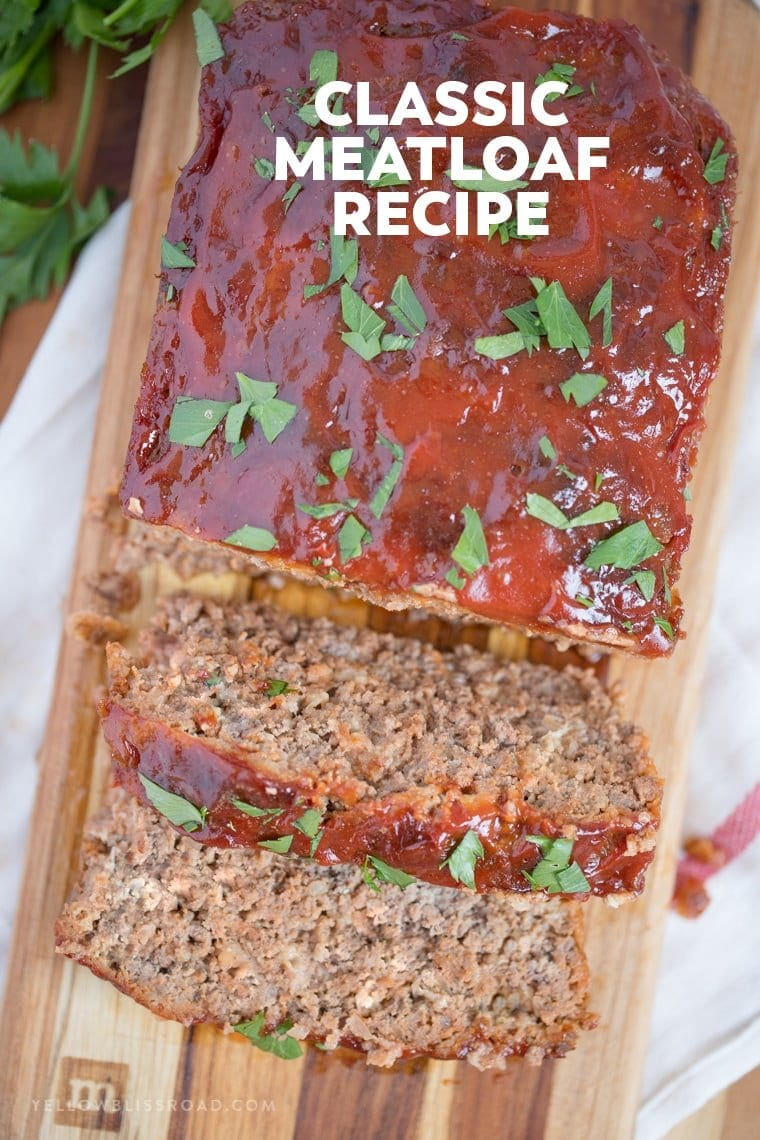 This classic meatloaf recipe is tender and juicy with a deliciously unique flavor. If you've ever wanted to know how to make meatloaf, start here!