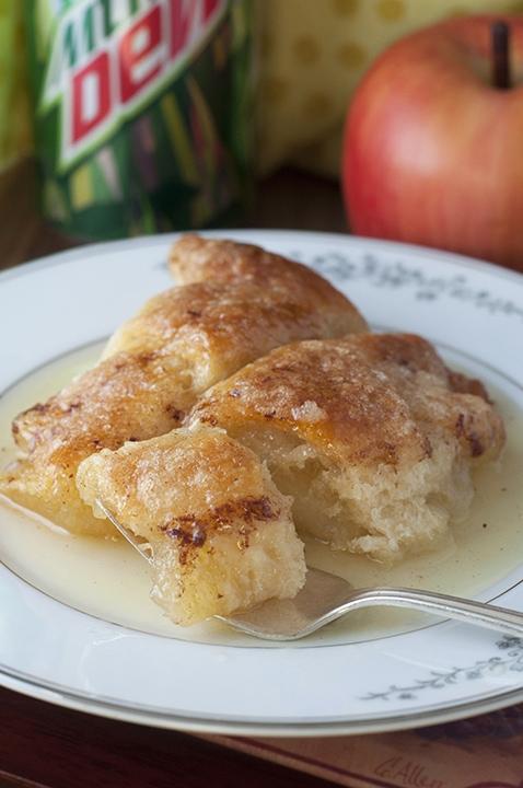 A plate of apple dumplings