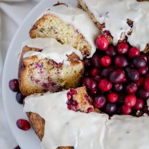 Cranberry Coffee Cake with Sweet Vanilla Glaze