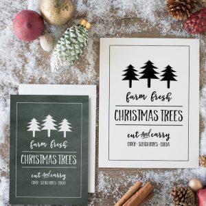 Farm Fresh Christmas Trees Free Printable Sign