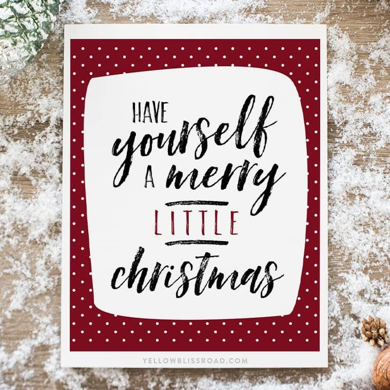 Have yourself a merry little christmas free printable solutioingenieria Gallery