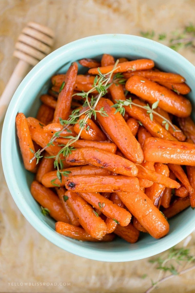 Roasted Baby Carrots with Honey Butter Glaze