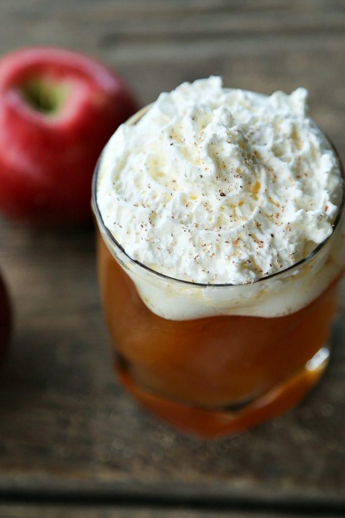 A mug of hot apple cider