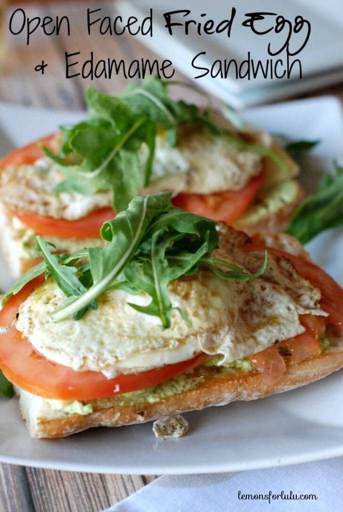 Two open faced sandwiches