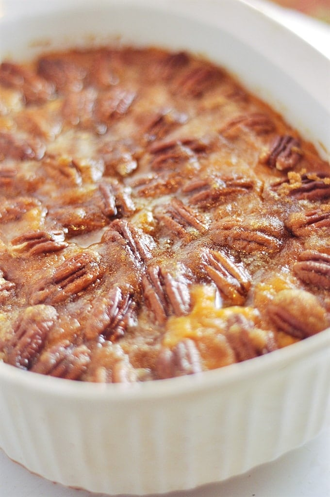 Sweet Potatoes with Pecan Topping for The Ultimate Thanksgiving Menu