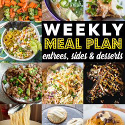 Weekly Meal Plan #89