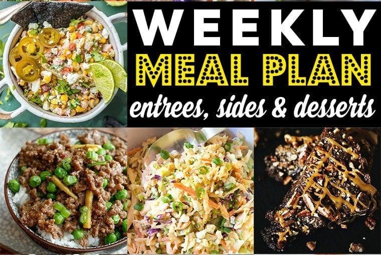 Weekly Meal Plan #89