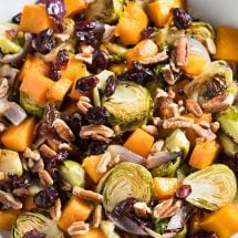 cranberry pecan roasted vegetables