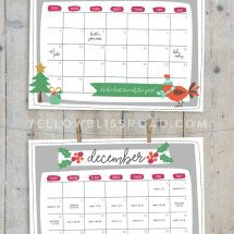 Close up of Christmas calendars