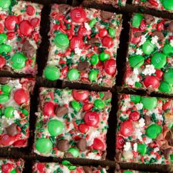 Christmas themed brownies