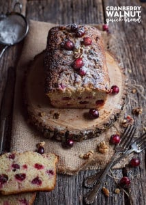 A loaf of Cranberry Walnut Bread