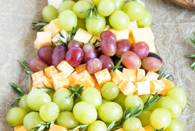 Christmas Tree Fruit & Cheese Tray