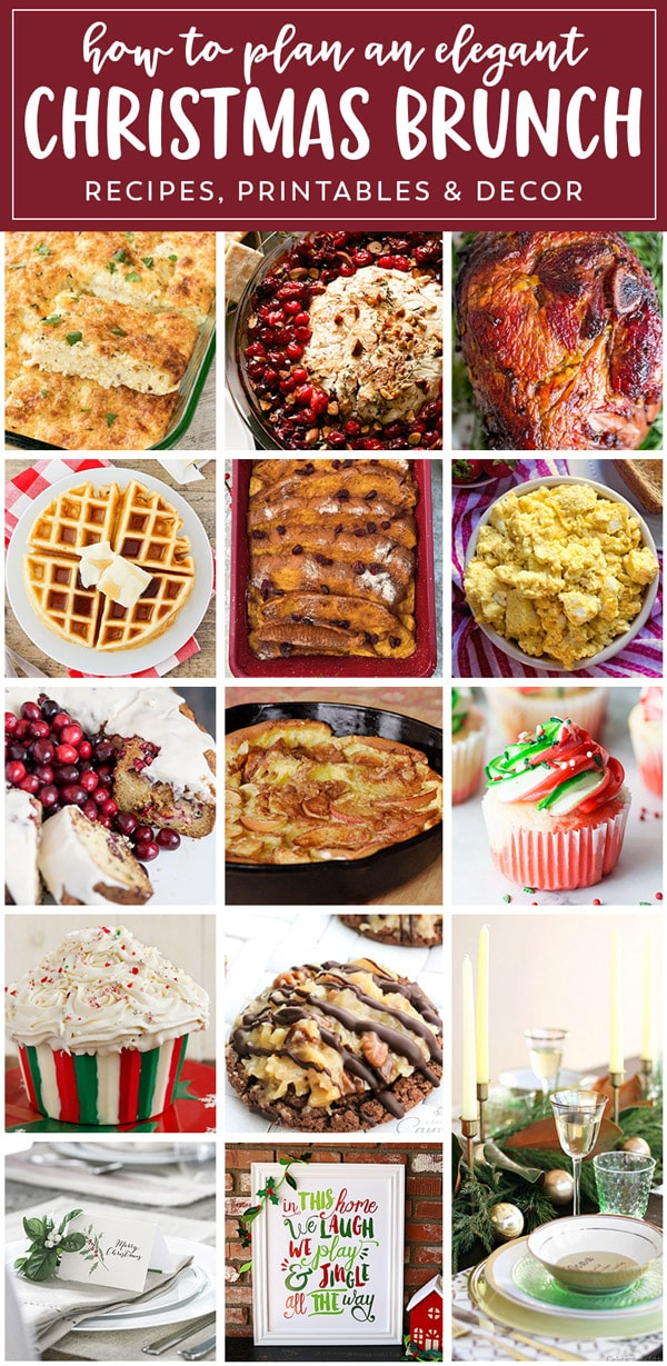 Brunch ideas to feed your crowd this Christmas. Tons of brunch recipes and tips for creating an elegant or casual holiday brunch.