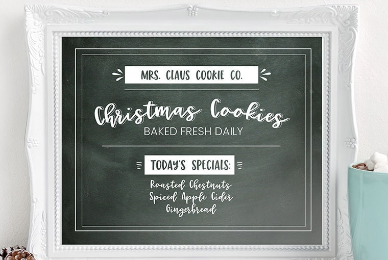 Mrs. Claus Cookie Company Free Christmas Printable