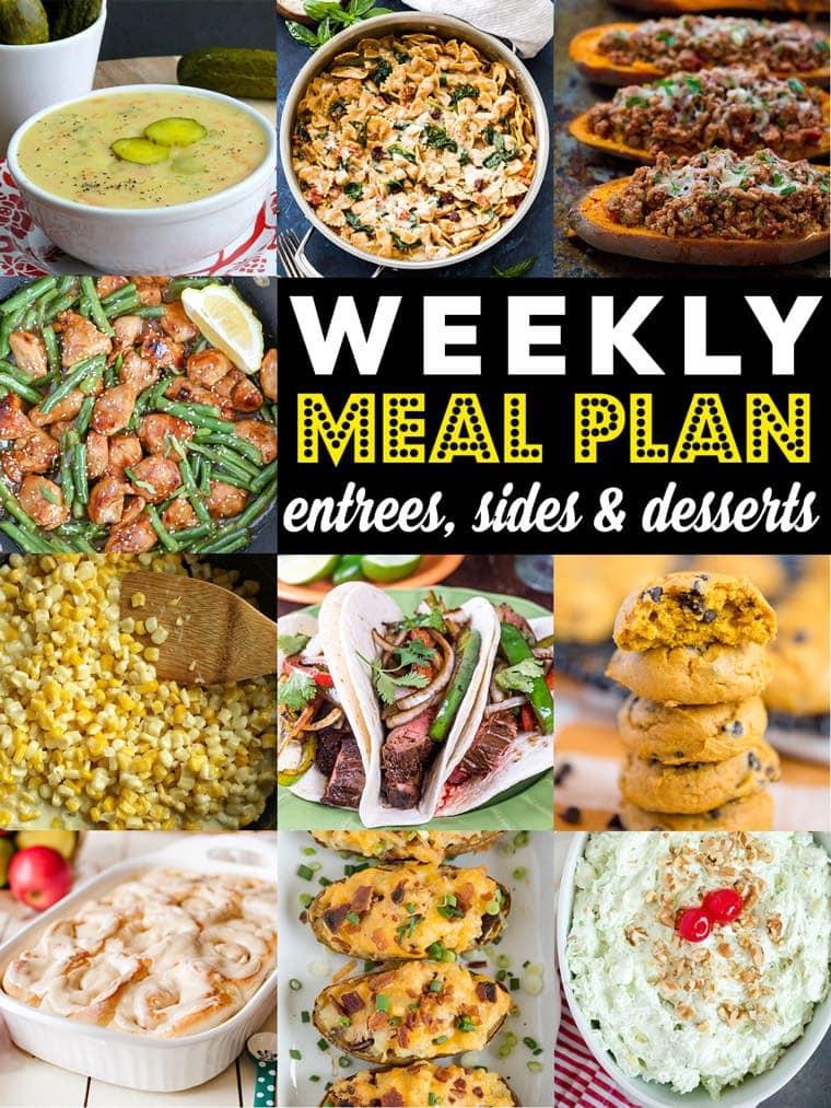 Social media image of Weekly Meal Plan
