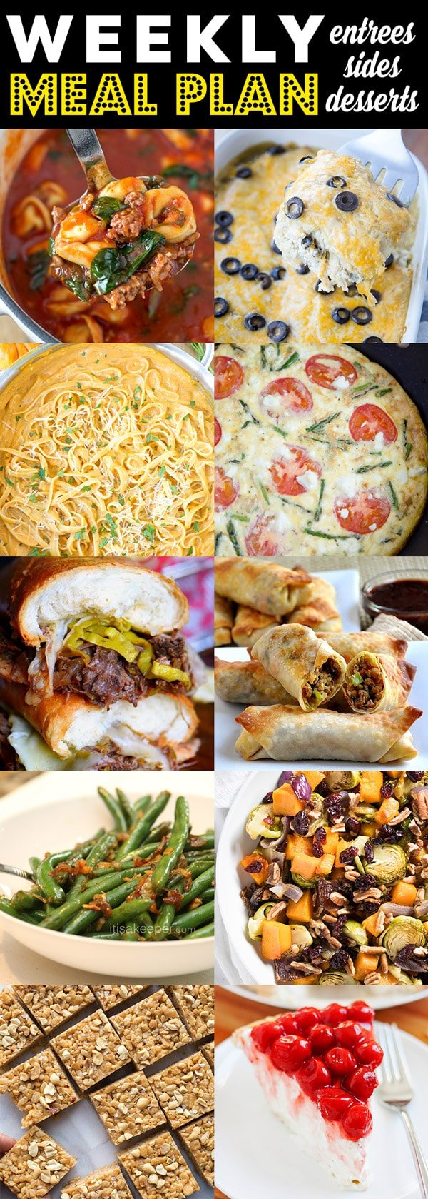 Weekly Meal Plan   Menu Planning   Weeknight Dinners, side dishes and desserts