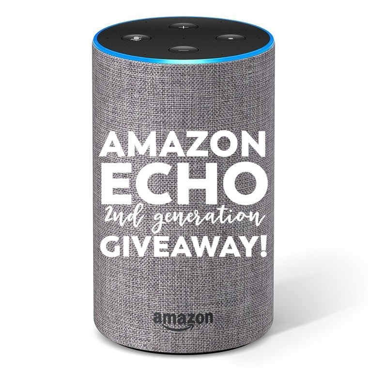 Amazon Echo Giveaway - win one in your favorite color!