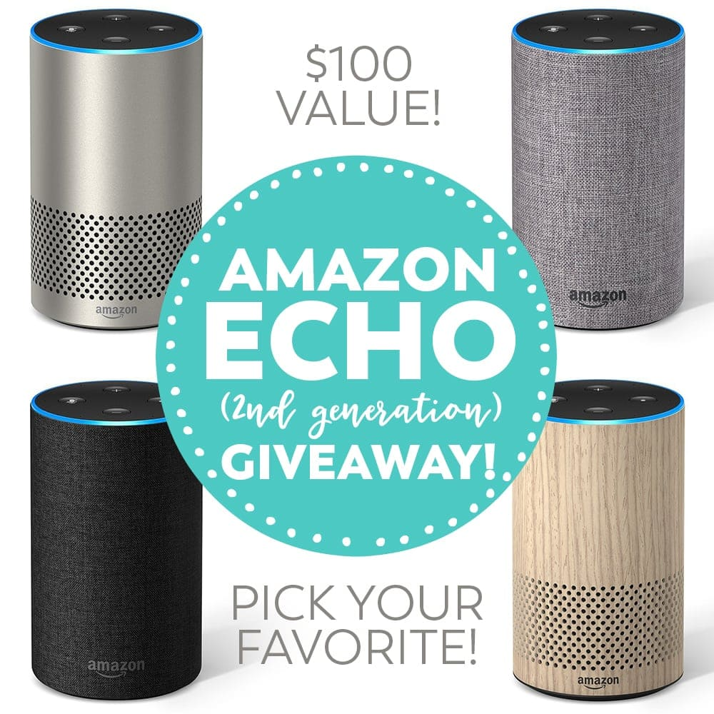 Win an all-new Amazon Echo, valued at $100. Choose your favorite color!
