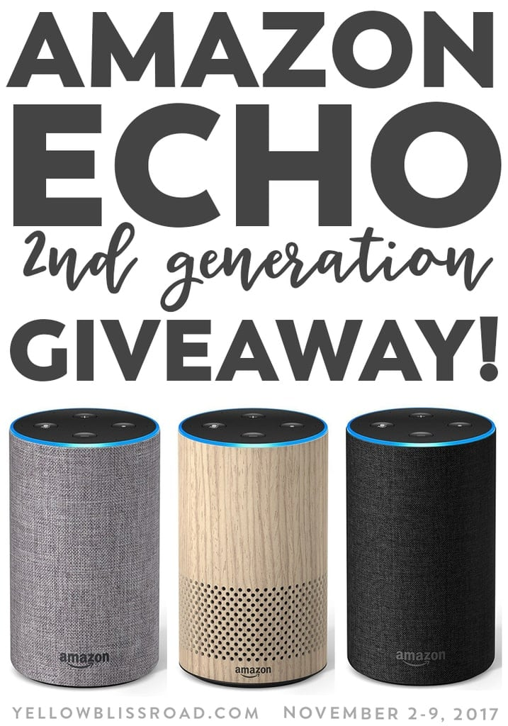 Amazon Echo Giveaway, valued at $100. These are our favorite things - 30 different prizes are up for grabs in our annual Favorite Things Giveaway!