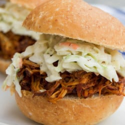 Slow Cooker Barbecue Chicken Sliders