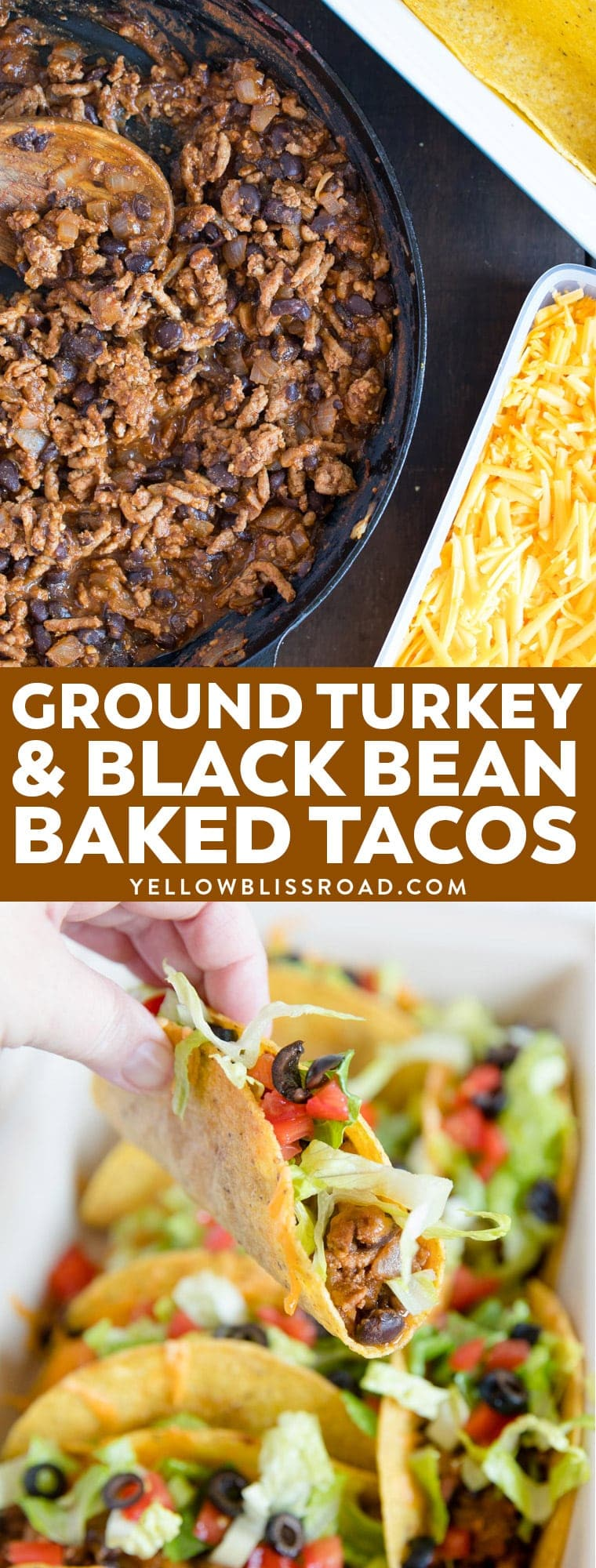 Ground Turkey and Black Bean Baked Tacos | Easy Weeknight Meal | Healthy Dinner Idea | Family Friendly Meals