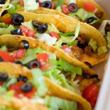 Ground Turkey and Black Bean Baked Tacos
