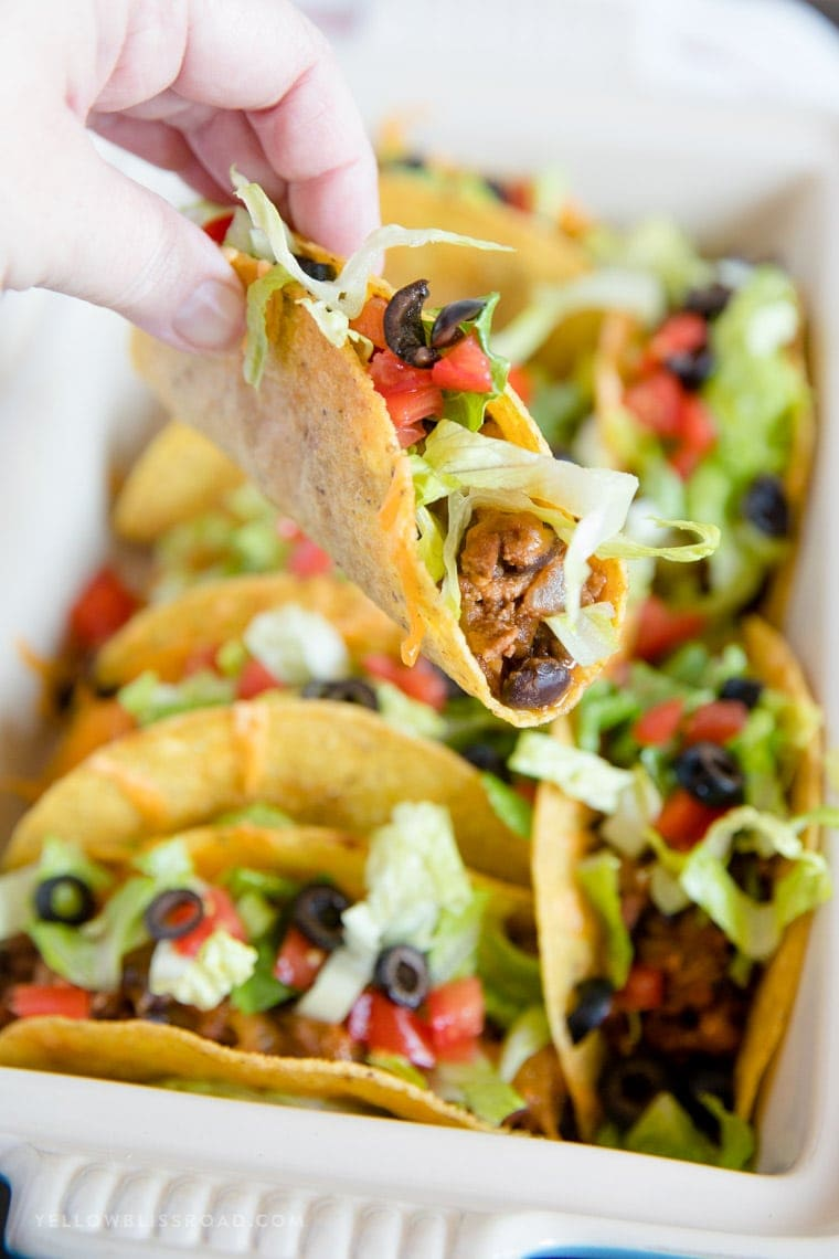 Easy to eat ground turkey tacos