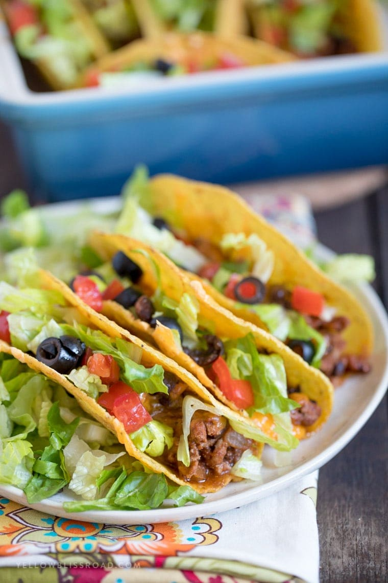 Ground Turkey and Black Bean Baked Tacos are crispy and delicious