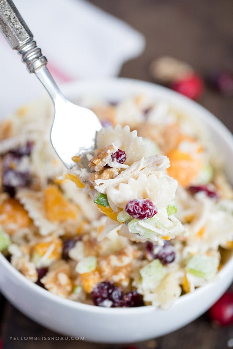 Turkey, Cranberry and Walnut Pasta Salad