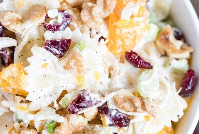 Turkey, Cranberry and Walnut Pasta Salad