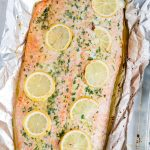 A close up of Baked Salmon