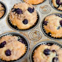 Blueberry Sour Cream Coffee Cake Muffins