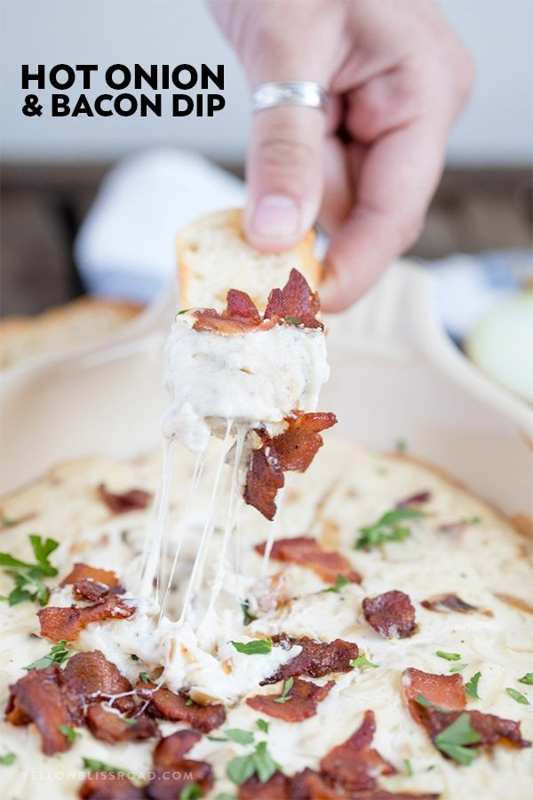 Hot Onion Bacon Dip | Game Day Party Food | Appetizer | Baked Cheese Dip